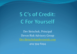 The 5 Cs of Credit – C the Big Picture