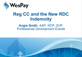 Reg CC and the New RDC Indemnity How Do I Handle Duplicates Now