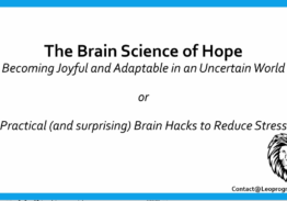 Brain Science of Adaptability – 5 Steps for Success in a Stressful World
